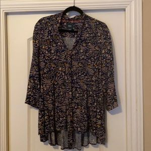 Maeve blouse size M floral pattern Anthropologie